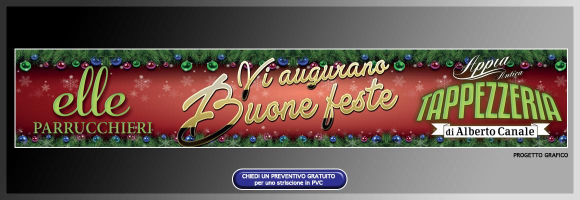 """Striscione natalizio """"Appia Antica Tappezzeria"""" e """"Elle Parrucchieri"""" Striscione natalizio """"Appia Antica Tappezzeria"""" e """"Elle Parrucchieri"""" grafica pubblicitaria a roma STRISCIONE ELLE PARRUCCHIERI APPIA ANTICA TAPPEZZERIA 04"""