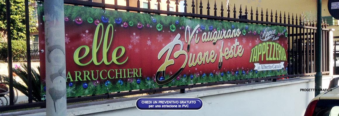 """Striscione natalizio """"Appia Antica Tappezzeria"""" e """"Elle Parrucchieri"""" Striscione natalizio """"Appia Antica Tappezzeria"""" e """"Elle Parrucchieri"""" grafica pubblicitaria a roma STRISCIONE ELLE PARRUCCHIERI APPIA ANTICA TAPPEZZERIA 05"""