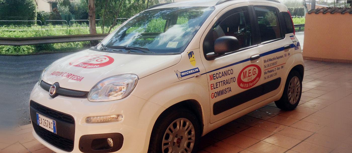 Grafica realizzata su un automezzo di cortesia ditta MEG Grafica realizzata su un automezzo di cortesia ditta MEG grafica pubblicitaria a roma Grafica su Automezzo MEG 04