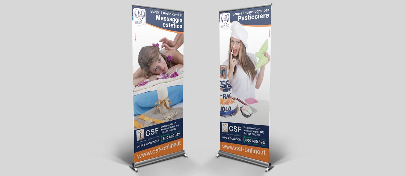 realizzazione roll up - c.s.f. formazione Realizzazione Roll up - C.S.F. formazione grafica pubblicitaria a roma C